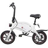 ANCHEER 14 Zoll Klapp-E-Bike 250W 36V 10Ah Wasserdichtes Elektrofahrrad mit 15-Meilen-Reichweite, Scheibenbremsen, APP-Geschwindigkeitseinstellung, 18 KG Pedelec (Weiß)