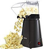 HIRIFULL 1200W Hot Air Popcorn Poppers Machine, Home Electric Popcorn Maker with Measuring Cup, 3...