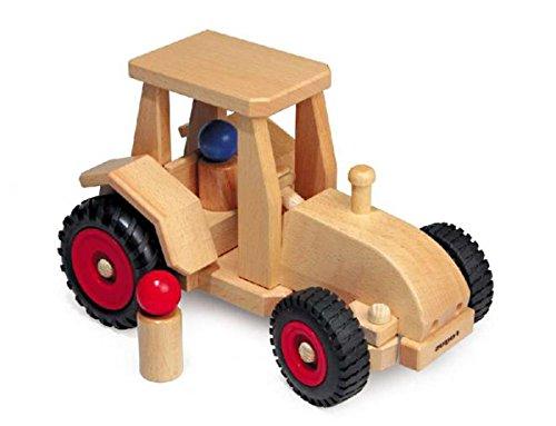 Fagus 10.29Holz Holz Spielzeug-Ziehen–Spielzeug Drag (Holz, Holz, Kinder/Mädchen, 4Wheel (S), Schwarz/Rot, 260mm)