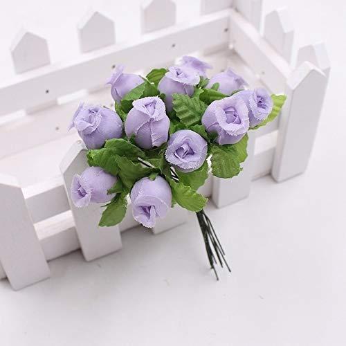 JSJJARD Künstliche Blumen 12 Köpfe/Bouquet Rose Decor künstliche Blumen-Ausgangsdekor-Imitation Gefälschte Blumen for Gartenpflanze Schreibtisch Dekor Hand-Holding-Blume (Color : G215349A)