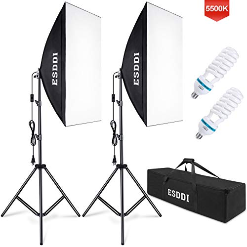 ESDDI Softbox Photography Lighting Kit 800W Continuous Photo Studio Equipment with...