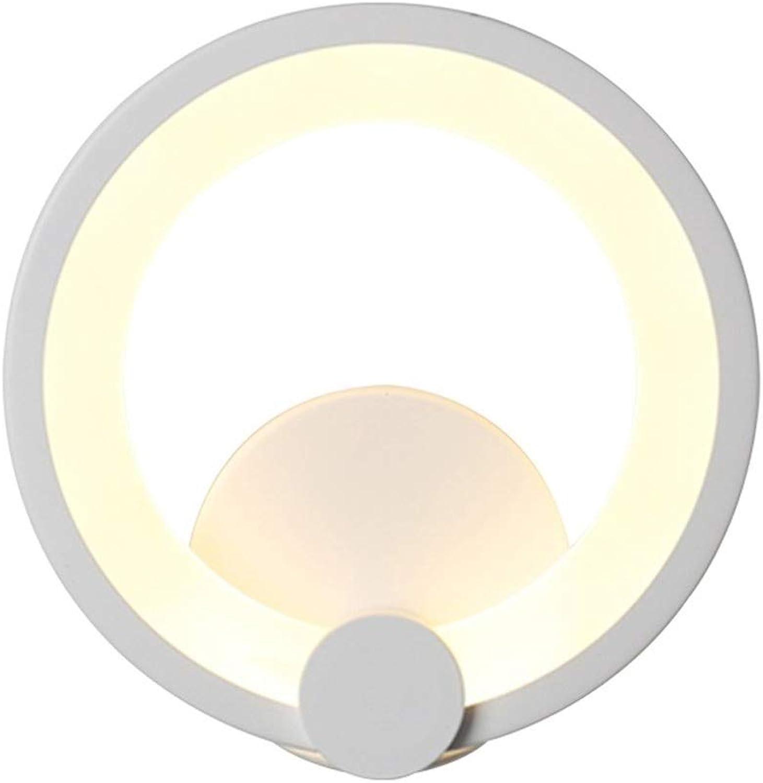 TriFarbe Dimming LED Wandleuchte Energiesparlampen Nordic Personality Wandleuchte Leuchte Lesebeleuchtung Moderne Wandleuchte Rundes Schlafzimmer Restaurantzimmer Galerie Wandleuchte Dekoration Wei