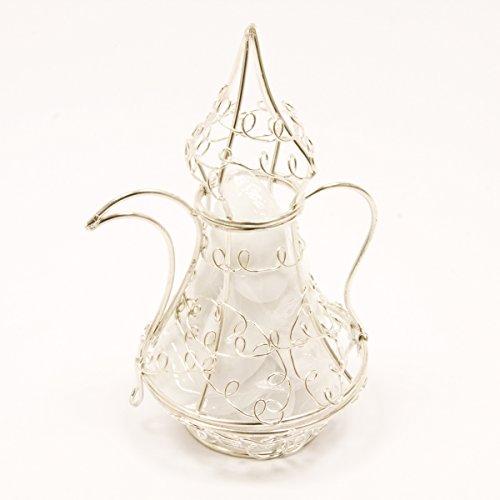Visiodirect Boîte à dragée théière en Métal Coloris Argent - 5 cm x 8 cm
