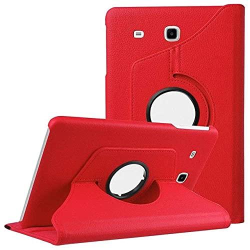 LIUCHEN Funda de tabletaFunda magnética para Samsung Tab E 9.6 T560 Funda de Piel sintética para Samsung Galaxy Tab E 9.6 T560 SM-T561 Funda para Tableta, Rojo, Tab S2 9.7 T810 T815