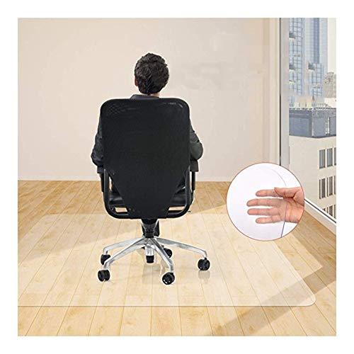 NINGWXQ Harte Fußmatten Stuhlmatte Filet Fußmatten for Büro Bürostuhl Unterlage Bodenschutz Unterlegmatte,4 Dicken, Unterstützung Der Anpassung (Color : 1.0mm, Size : 100x120cm)