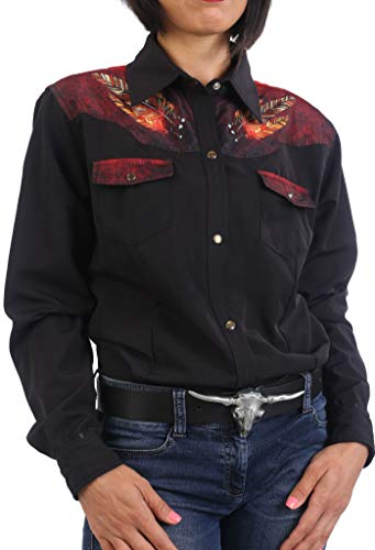Last Rebels Country - Camisa para mujer, diseño indio largo Negro Small