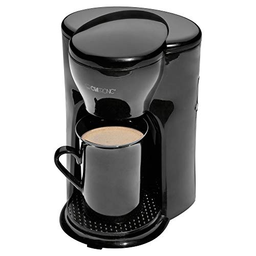 Clatronic KA 3356 1-Tassen-Kaffee-Automat, inkl. Keramiktasse, schwarz