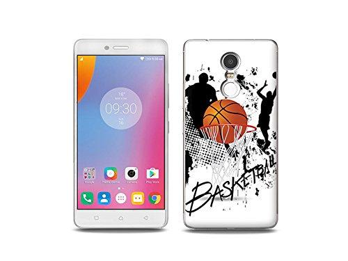 etuo Handyhülle für Lenovo K6 Note - Hülle Fantastic Hülle - Zeit für Basketball - Handyhülle Schutzhülle Etui Hülle Cover Tasche für Handy