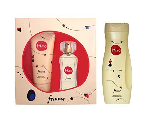 Miro FEMME 2 tlg Geschenkset: EdP 50 ml + Shower Gel 100 ml + Shower Gel 400 ml