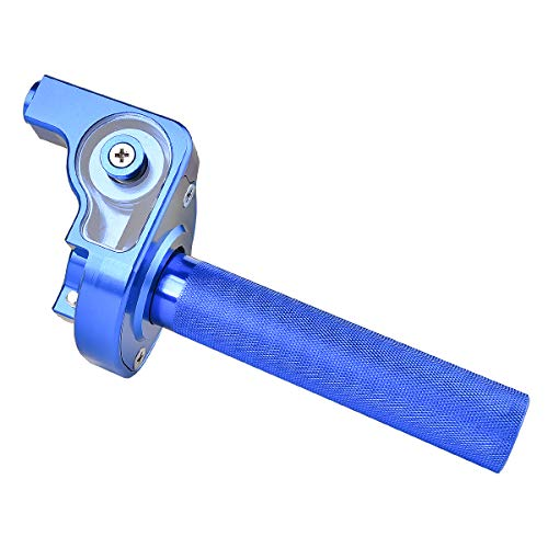1/4 Turn Fast Action Throttle Assembly CNC Anodized Aluminum for CR80 CR85 CR125 CR250 CR500 BLUE