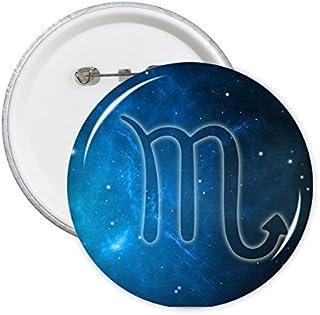 DIYthinker Scorpion Zodiaque Starry Night Sky Badge L
