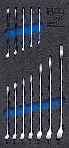 BGS 4082 | Insert de servante d'atelier 1/3 : Jeu de clés mixtes | 6 – 22 mm| 12 pièces
