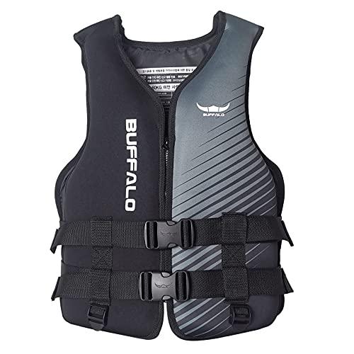 Younoo1 - Chaleco de salvamento para adultos – Snorkel de seguridad hinchable, chaleco de flotación, chaleco de baño de natación, adecuado para Kayak barco con motor de pesca, natación