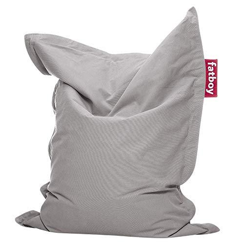 Fatboy® Original Sitzsack Junior Stonewashed | Klassisches Indoor Sitzkissen speziell für Kinder in Silber | 130 x 100 cm