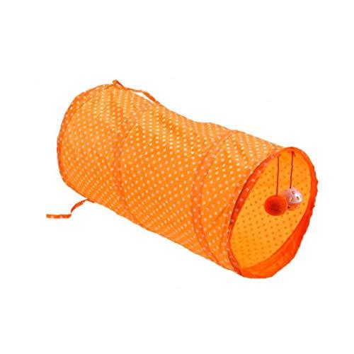 KHHGTYFYTFTY Tubo Túnel Animal doméstico del Perro del Gato de Juguete Plegable Tubo Juego del Entrenamiento del Juguete Interactivo Juguete del Perrito Gatito túnel de Orange