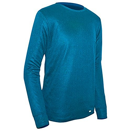 PolarMax Unisex Jugend-doppelter Boden Layer Long Sleeve Crew, Jungen, Polarmax Double Layer Ls Crew Neck Shirt - Kid's, Polar Blue
