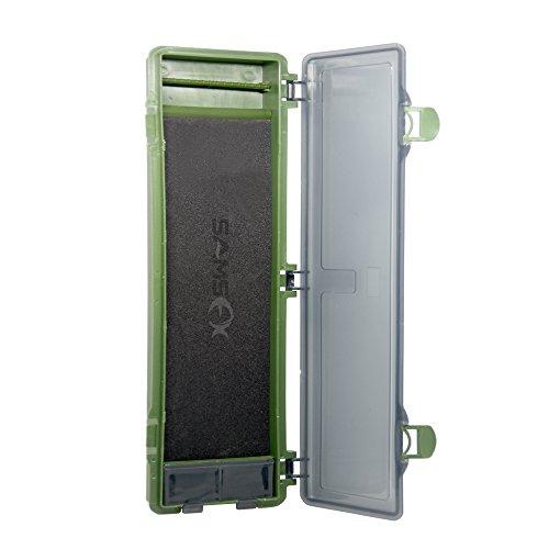 SAMSFX Carp Fishing Tackle Box Stiff Hair Rig Board Rig Box Wallet Rig Storage Box