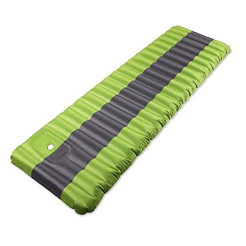yunyu Aufblasbare Outdoor-Luftmatratzen Aufblasbare Isomatte Ultraleichte Campingmatte Feuchtigkeitsbeständige Wanderluftmatte Campingbett (Farbe: Grün), robuste Outdoor-Tasche