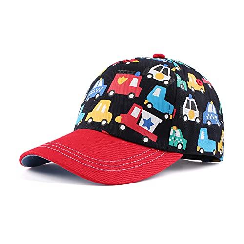 Pesaat Classic Baby Gorra de béisbol Dinosaurio Niños Niñas Sombrero para el Sol Algodón Primavera Verano Niños Visera Sombreros (Coche Colorido, 1 a 2 años)