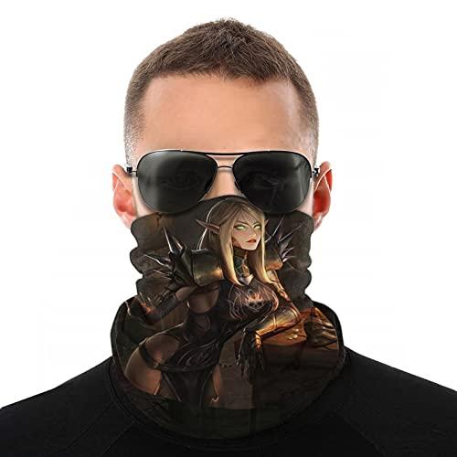 World of Warcraft Écharpe de protection unisexe Motif elfe du sang
