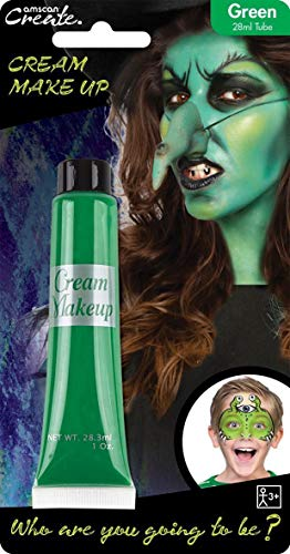 28ml Crema Cara & Body Paint Fancy Dress Party Maquillaje Accesorio - Verde