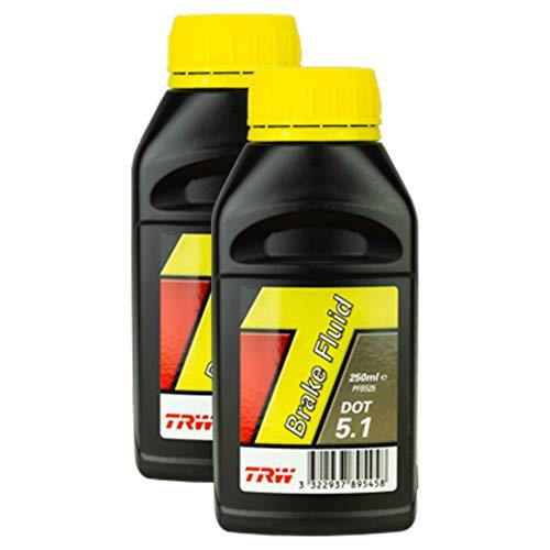 2x Trw Bremsflüssigkeit Brake Fluid Dot 5.1 250 Ml Pfb525