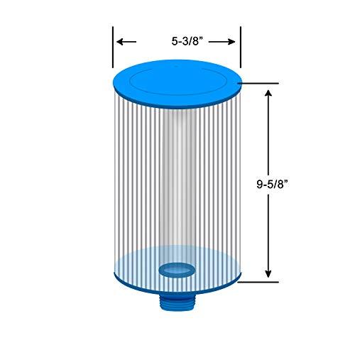 Clarathon 2 Replacement Filters for Lifesmart, Freeflow, AquaTerra, Hydromaster, Grandmaster, Simplicty, Bermuda Spas - 50SF [2-Pack]