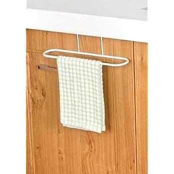 HOUSE OF QUIRK 1PC 26.5 cm Door Back Hand Towel Rack Bathroom Cloth Holder Kitchen Drawer Hanger