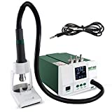 S SMAUTOP Hot Air Gun Desoldering Station Intelligent Touch 1200W 100-550℃ Digital LCD Screen 3 Storage Channels Hot Air SMD Rework Station with 3 Nozzles for Heat Shrink Welding and Desolder