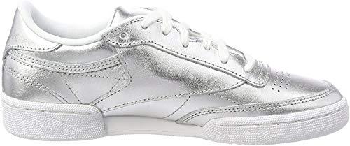 Reebok Damen Club C 85 S Shine Gymnastikschuhe, Silber (Silverwhite), 38.5 EU