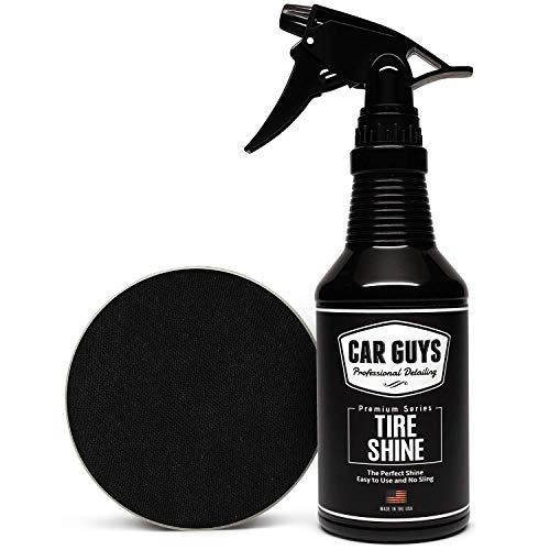 CAR GUYS Tire Shine Gallon – Easy to Use Tire Dressing – Dry to The Touch with Long Lasting UV Protection – 1 Gallon…