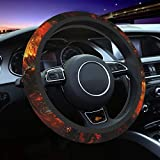 Fire Dragon Animal Steering Wheel Cover for Women Men, Universal 15 Inch Anti Slip and Sweat Absorption Auto Car Wrap Cover, Fit Suvs, Vans, Sedans, Cars, Trucks