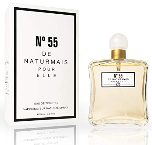 N°55 Eau De Parfum Intense 100 ml, Perfume Equivalente Mujeres. Compatible con Chan. N°5