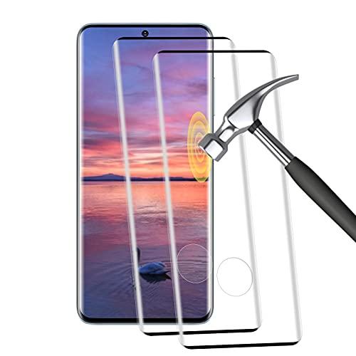[2 pezzi] Vetro temperato per Samsung Galaxy S20, [3D copertura completa], 9H durezza, anti-bolle, HD Clear, anti-impronte, pellicola protettiva in vetro temperato per Samsung Galaxy S20 - (nero)