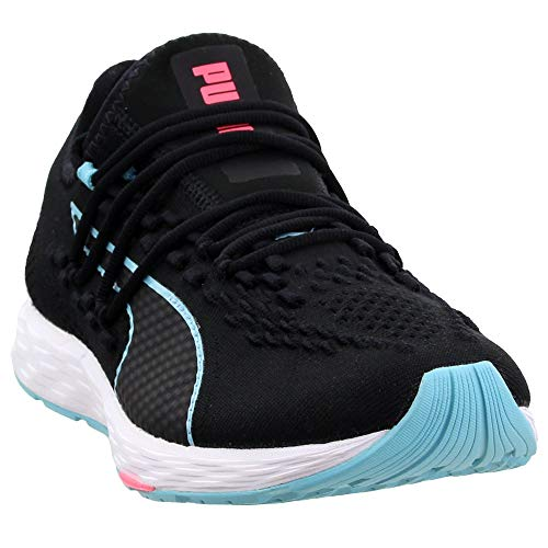 PUMA Womens Speed 300 Racer Running Casual Shoes, Black, 9.5