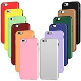 iVoler 12x Custodia Cover per iPhone 6s / iPhone 6, Ultra Sottile Morbido TPU Silicone Custodie Case (Nero, Grigio, Blu, Verde Scuro, Verde, Viola, Rosa, Rosso Vino, Rosso, Giallo, Arancione, Marrone)