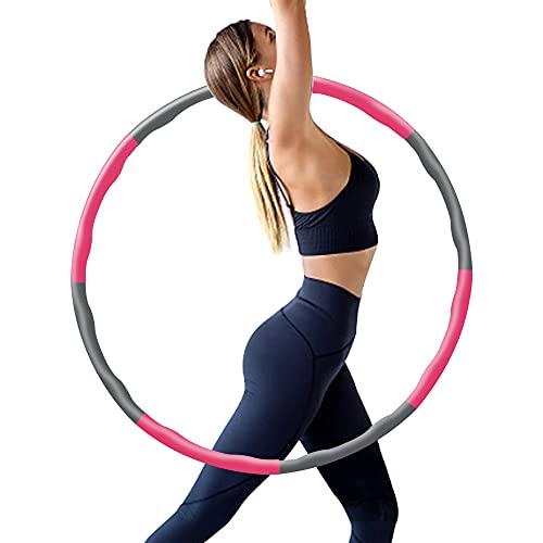 Hamazar Aro de fitness para adultos y niños para perder peso y masaje, 6 – 8 segmentos desmontables para fitness, deporte, hogar, oficina, tonificación abdominal