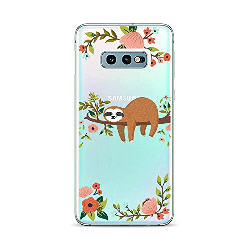 Samsung Galaxy S10e Case,Blingy's New Fun Animal Style Transparent Clear Soft TPU Protective Rubber Case for Samsung Galaxy S10e (Sleeping Sloth)