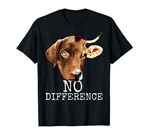 Pro Vegan No Difference Vegetarier Tierschutz Veganer Vegan T-Shirt