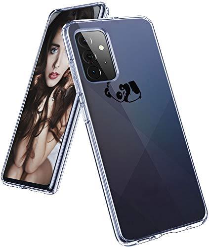 Compatible con Samsung Galaxy A72, funda original transparente flexible de silicona con patrón de animales Galaxy A72, funda fina y fina, 360 grados, antigolpes, carcasa protectora para Samsung A72