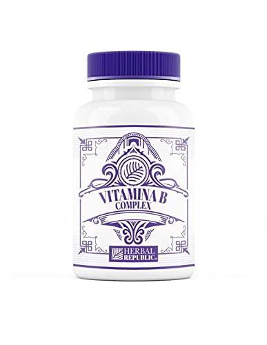Herbal Republic   Vitamina B Complex   60 cápsulas   Controla el estrés, mejora la depresión y disminuye la ansiedad