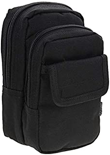 Mens Bag Multi-function High Density Strong Nylon Fabric Waist Bag/Camera Bag/Mobile Phone Bag Size: 9.5 x 18.5 x 8cm High capacity