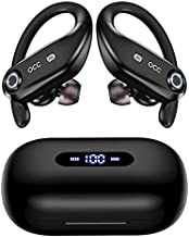Bluetooth Headphones 4-Mics Call Noise Reduction 64Hrs IPX7 Waterproof Power Bank occiam Wireless Earbuds Over Ear Earphones with 2200mAh Charging Case for Sports Running Workout Gaming