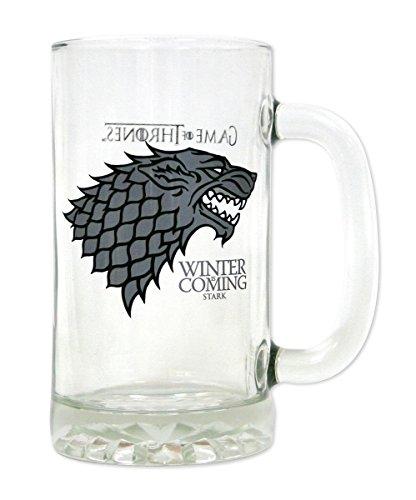 """Vaso/Jarra de Cerveza Game of Thrones - Casa Stark """"Winter is coming/El invierno se acerca"""""""
