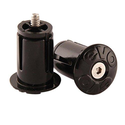 EVO, Handlebar Tape end Plugs, Pair, Black