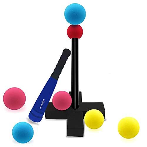 (アワンキー) Aoneky バッティングティー ティーボールセット 30cm スポンジ 野球バット 子供用 練習 玩具 贈り物 安全安心 セット (ブルー)
