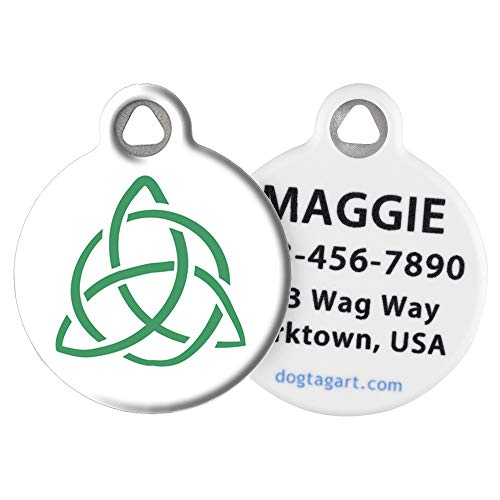Dog Tag Art Cat or Dog Tag, Personalized Name Tag for Pets, Celtic Knot, Large