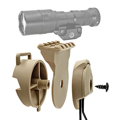 Airsoft Headset ARC Rail Adapter & Mount Platform Kit for Comta Headphones and Lights (Tan)