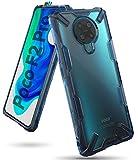 Ringke Fusion-X Kompatibel mit Xiaomi Poco F2 Pro Hülle Transparent Rückseite mit Verbesserter TPU Silikon Rahmen Schutz - Space Blue
