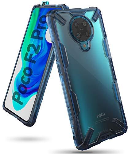 Ringke Fusion-X Compatible con Funda Xiaomi Poco F2 Pro (6,67 Pulgadas), Compatible con Funda Redmi K30 Pro, Rigida Carcasa Parachoque TPU Resistente Impactos - Space Blue